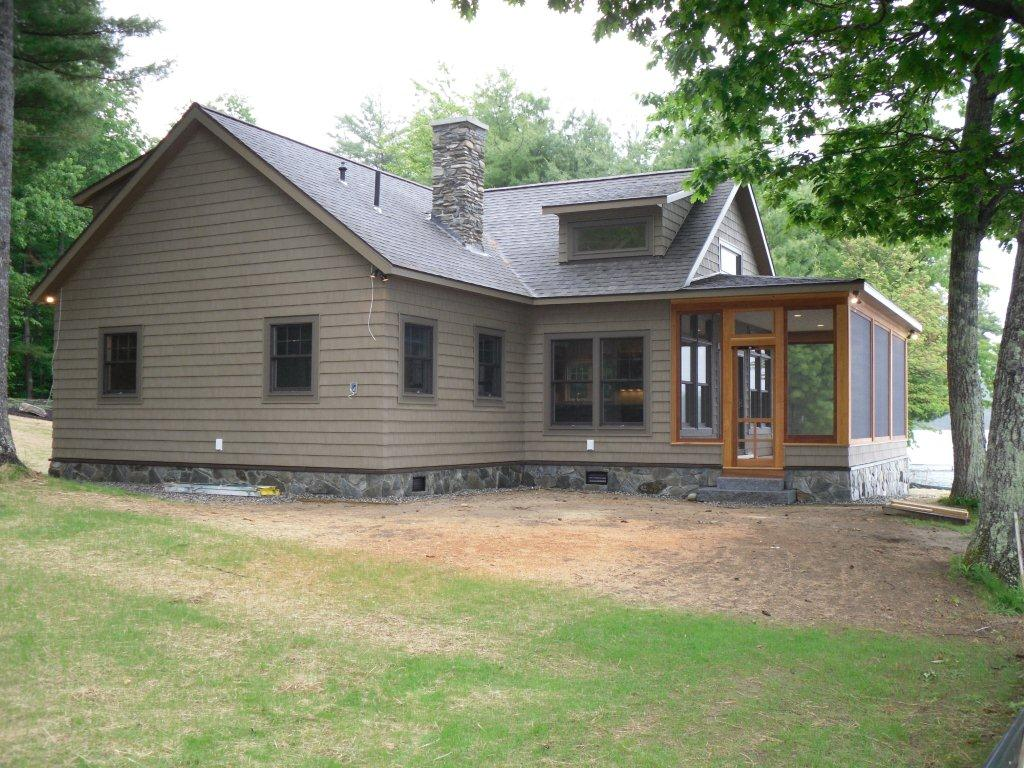 Lakeside cottage carriage house new construction sj for New house construction